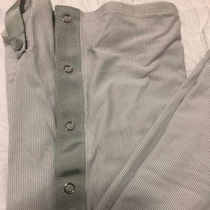 Lululemon vinyasa scarf! Grey and white stripe